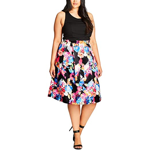 9550f6f822 Shut Out Floral Fit & Flare Dress in Black - Size 14 / XS. Roll over image  to zoom in. City Chic