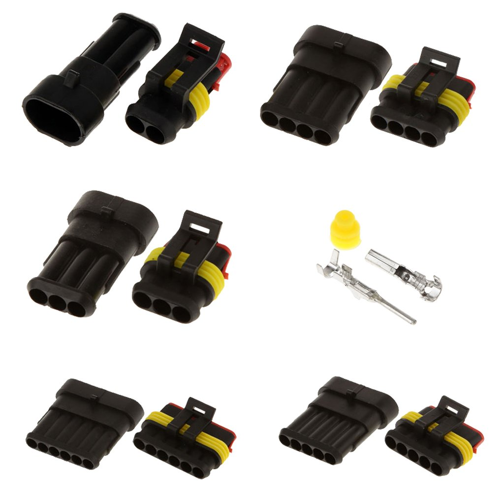 5 Kit de Sello Conector Terminal Sistemas Eléctricos Impermeable 1,5 MM 3 Pin para Automóvil Generic STK0151002544