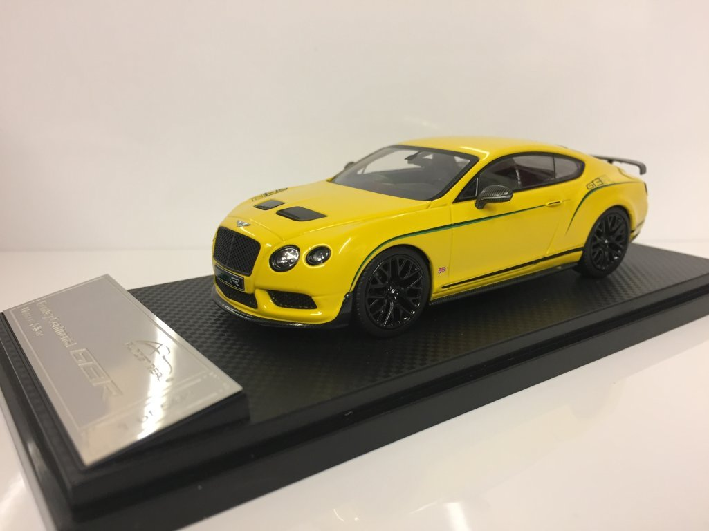 Almost Real 1/43 Scale Metal Model 430404 Bentley Continental GT3-R 2015 Yellow