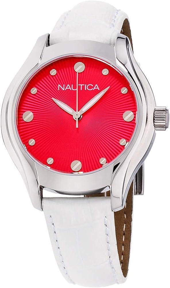 Nautica N10508M - Reloj de pulsera para mujer (mecanismo de cuarzo, esfera rosa)
