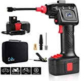 Automatic Cordless Tire Inflator Portable Air Compressor, Easy to Read Digital Pressure Gauge, Built in LED Light