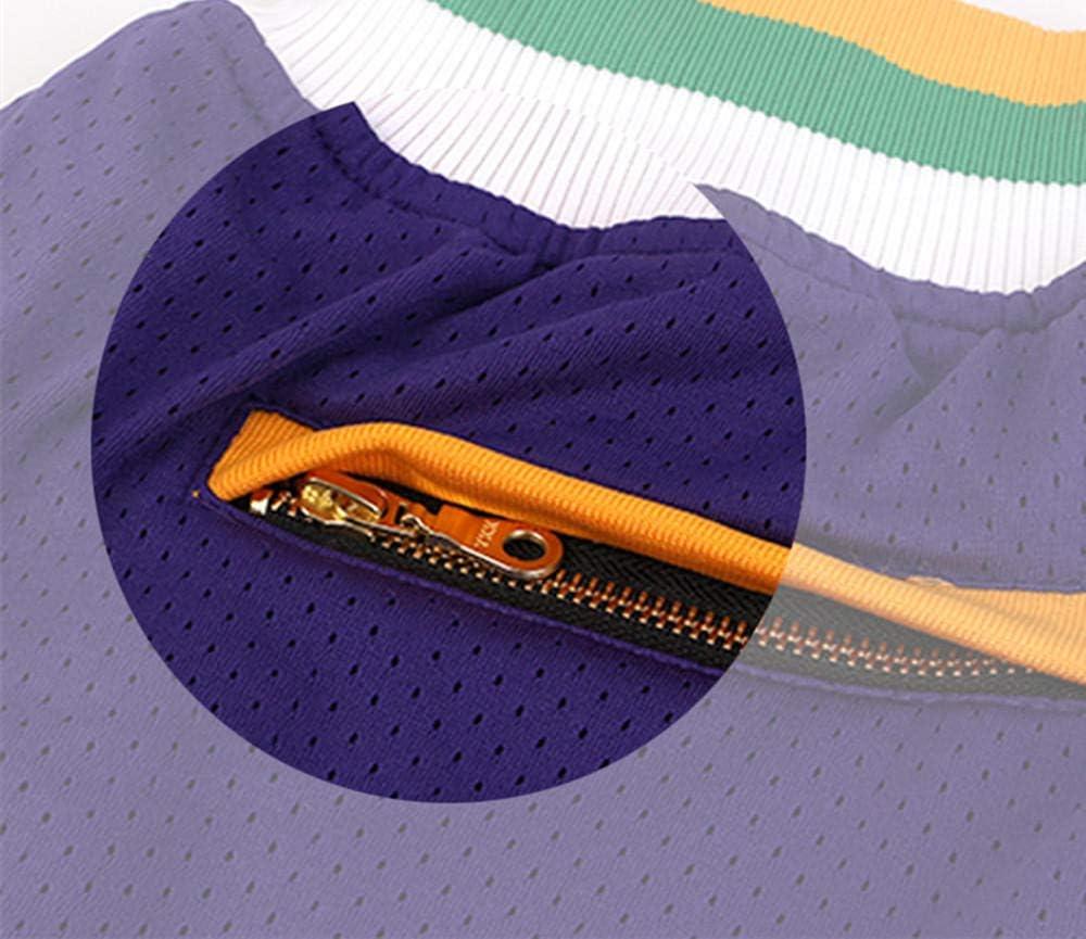 Pantalones cortos de baloncesto para hombre tejido doble transpirable GENERICS Utah Jazz texto impreso adecuado para baloncesto buena elasticidad
