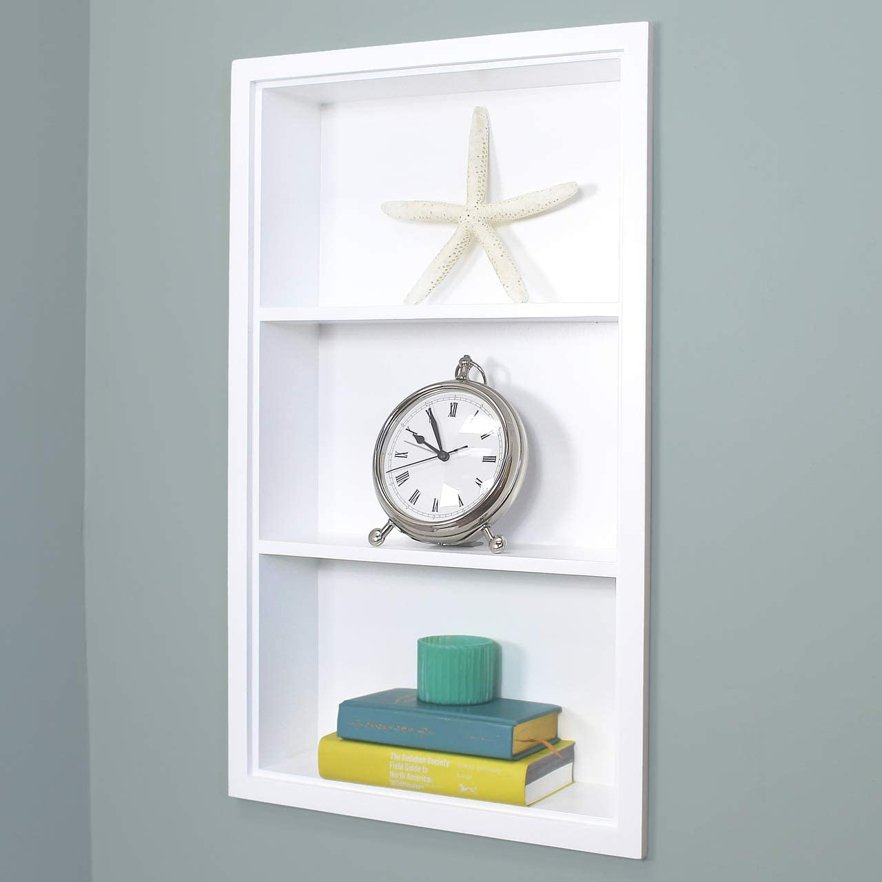 Fox Hollow Furnishings 14×24 Recessed White Sloane Wall Niche w Plain Back