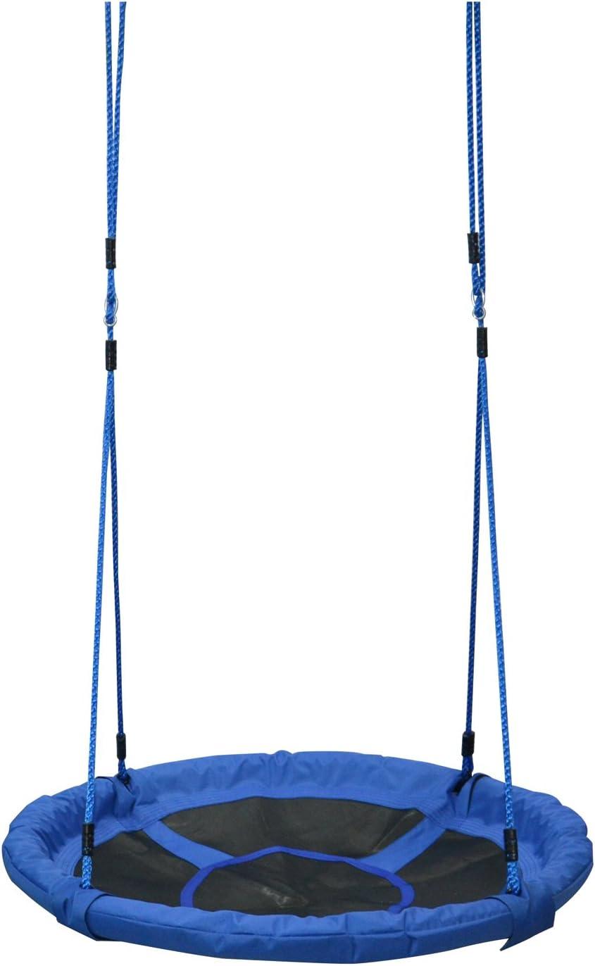 HOMCOM Columpio Nido Infantil Jardín Columpio para Bebé Asiento de Columpio Plegable Asiento Cómodo Jardín Interior y Exterior φ100x180cm Tela de Oxford Carga 100kg