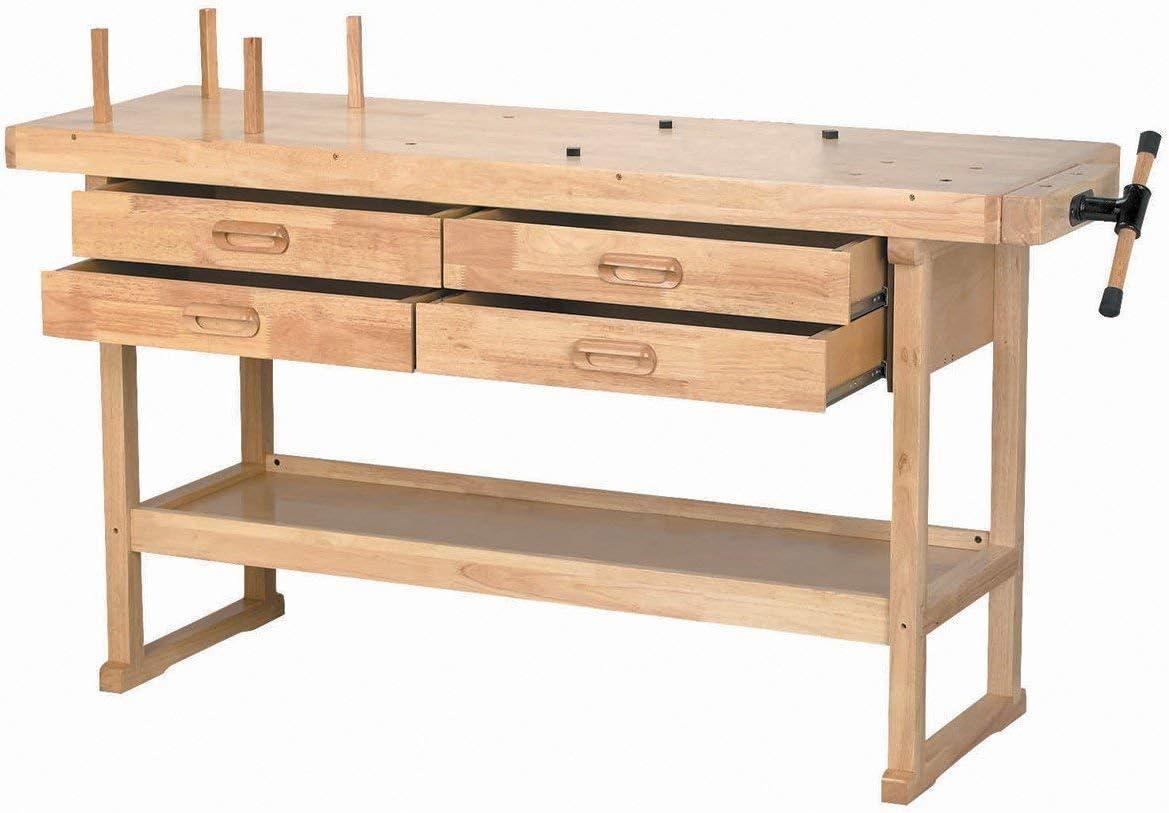 Windsor Design Workbench with 4 Drawers, 60 Hardwood