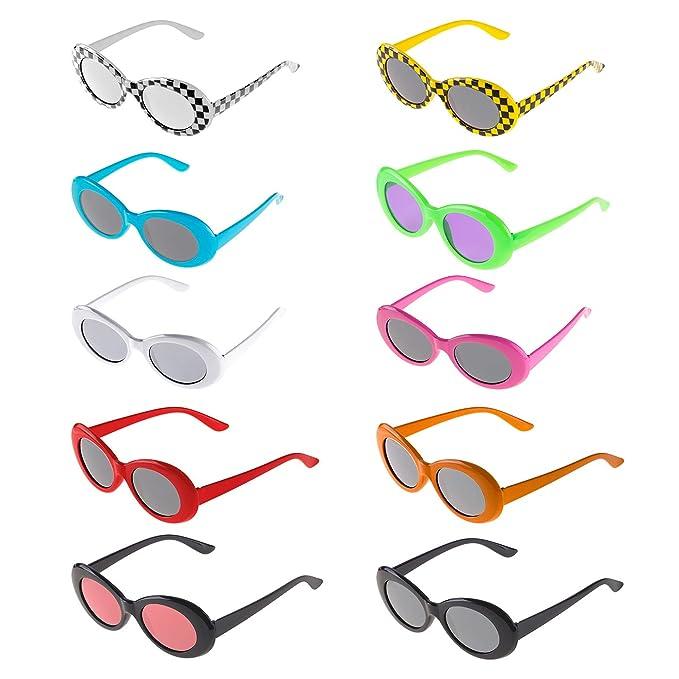 Amazon.com: Solovey Gafas de sol ovaladas con marco grueso ...