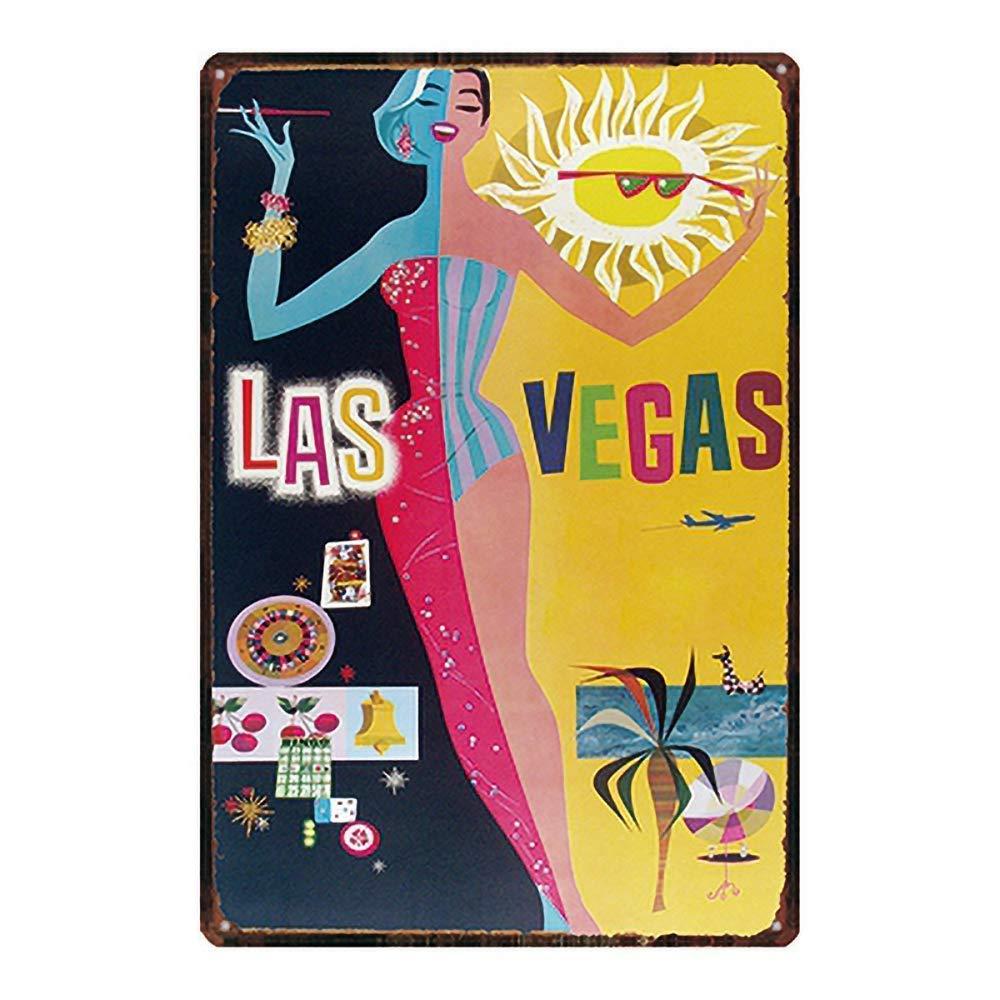 LORENZO Las Vegas Vintage Metal Cartel de Chapa Pared Hierro ...
