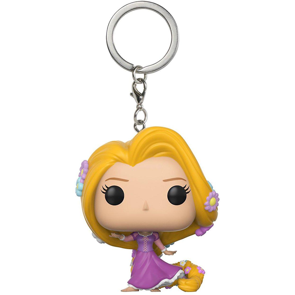 Rapunzel: Fun ko Pocket Pop! Mini-Figural Keychain & 1 Classic Trading Card Bundle (21320)
