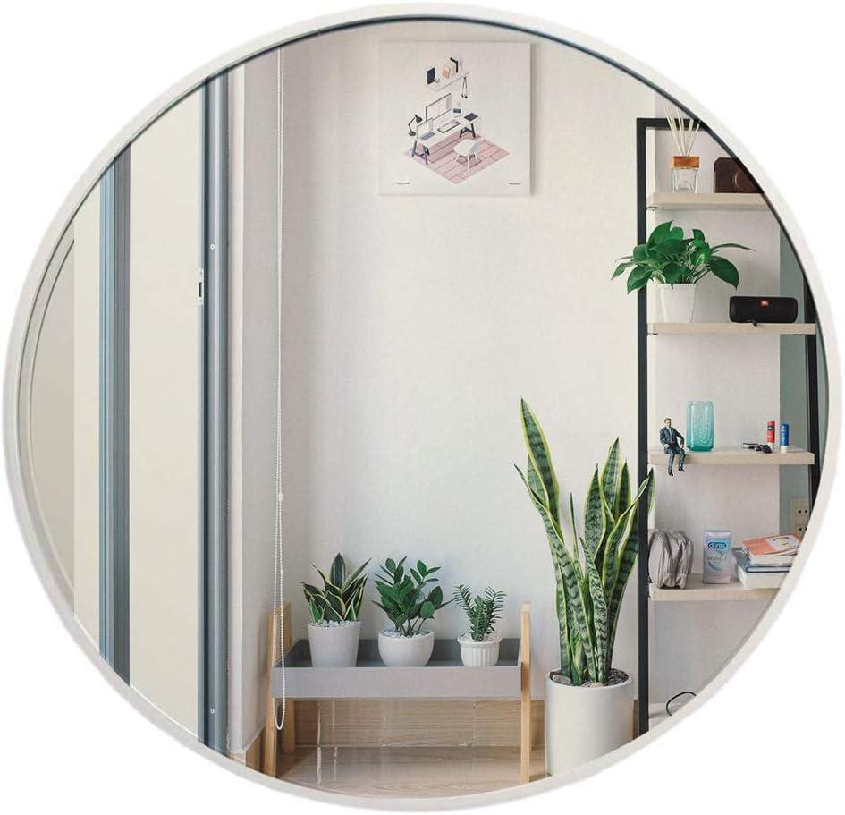 Muzilife - Espejo Redondo con Marco de Metal para Montaje en Pared para baño o Sala de Estar, Plateado, 40 cm: Amazon.es: Hogar