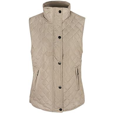 655ec6bb2 Ladies Womens Gilet Quilted Sleeveless Jacket Vest Top Waistcoat Bodywarmer  Size