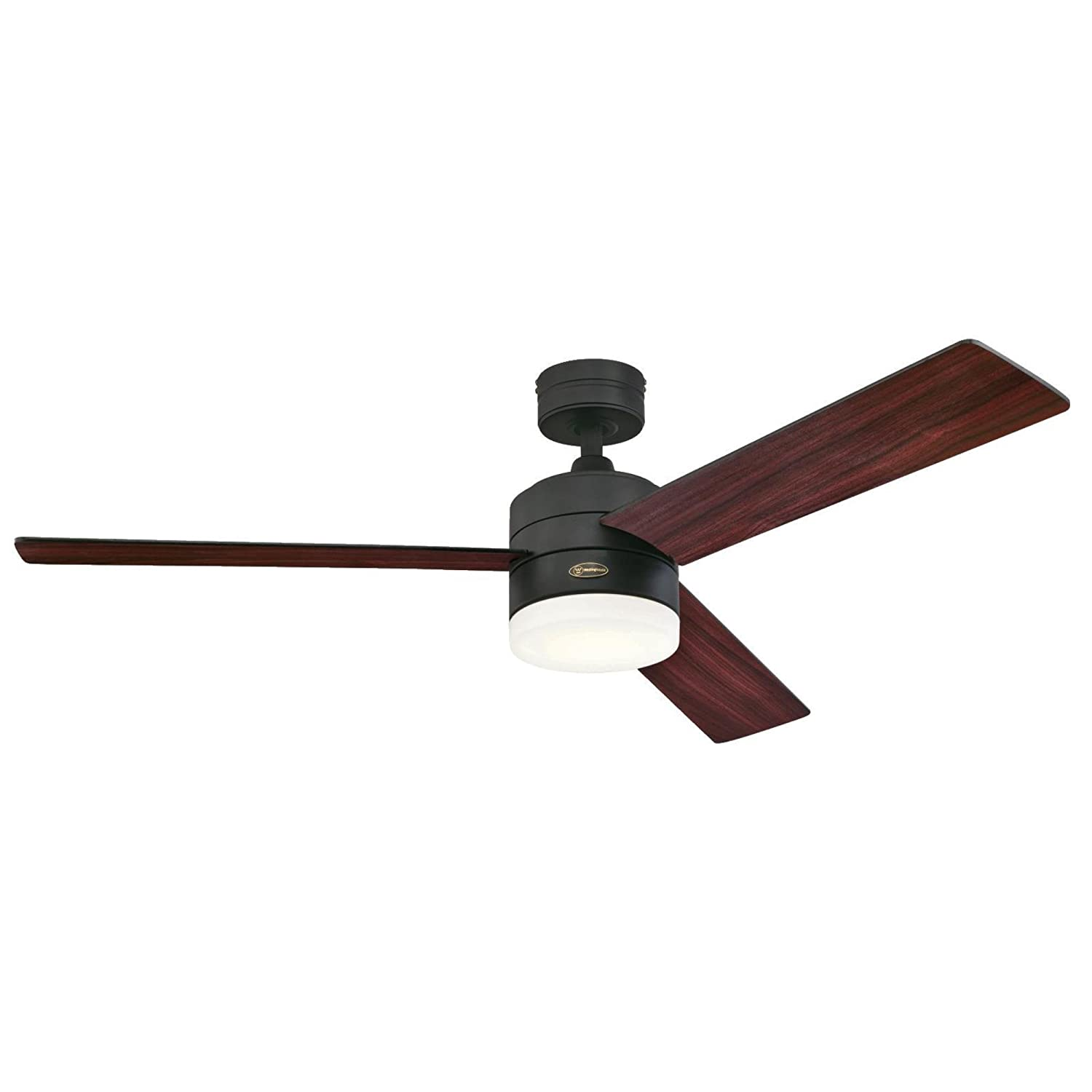 Com Westinghouse 7205900 Alta Vista 52 Inch Matte Black Indoor Ceiling Fan Dimmable Led Light Kit With Opal Frosted Glass Remote Control Included