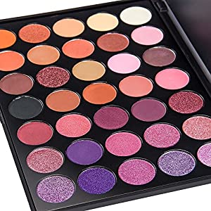 de 39 lanci 35 color eyeshadow makeup palette waterproof. Black Bedroom Furniture Sets. Home Design Ideas