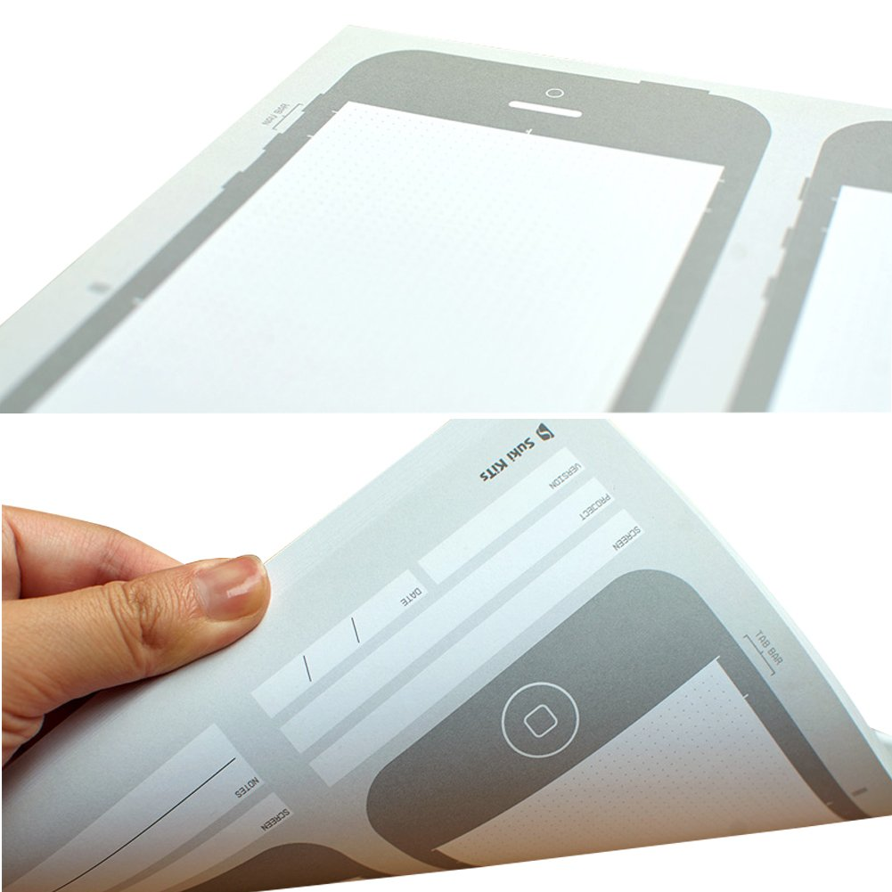 OLizee Creative iPhone 6 Sketch Pad Stencil Kit for App Design UI Design by OLizee (Image #2)