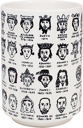 It's Hard to Get a Handle on the Kings and Queens of England - Porcelain Tea Cup Featuring The Entire Royal Lineage