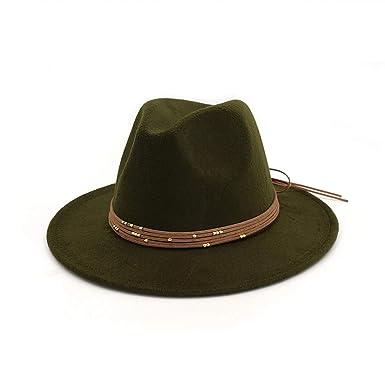 70c9a07a1 Fashion Wide Flat Brim Wool Felt Fedoras Hats Jazz Trilby Formal top ...