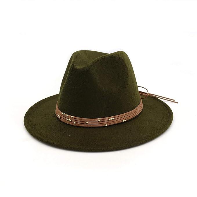 68cce06af6a Fashion Wide Flat Brim Wool Felt Fedoras Hats Trilby Formal top hat Panama Cap  Floppy Hat