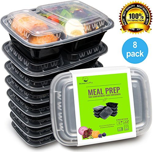 bento lunch box set meal prep food storage restaurant containers plastic foodsaver 8pk. Black Bedroom Furniture Sets. Home Design Ideas