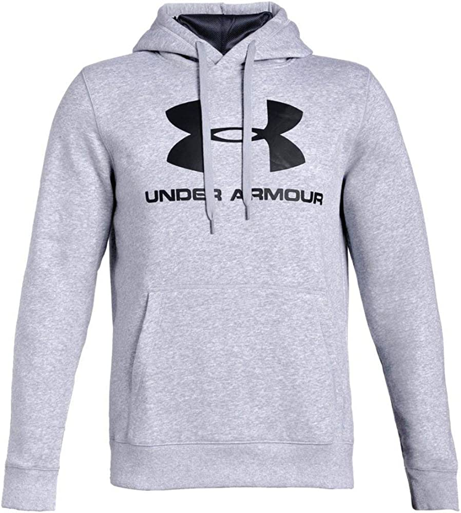 Under Armour UA Rival Fleece Fitted Graphic XL Steel Light Heather