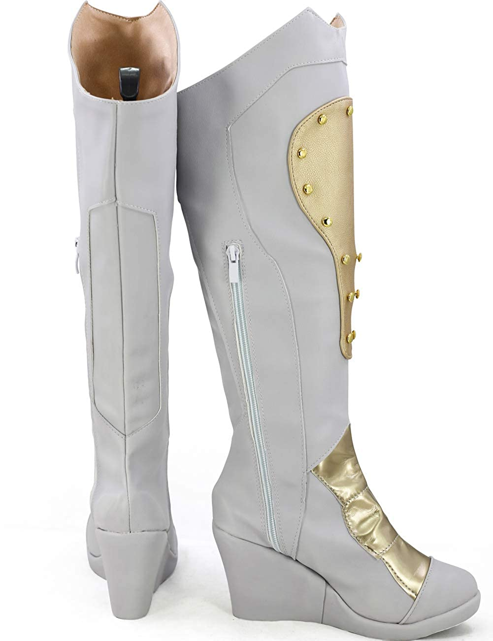 GOTEDDY Women Girl Boots Halloween Cosplay White Shoes Costume Accessories