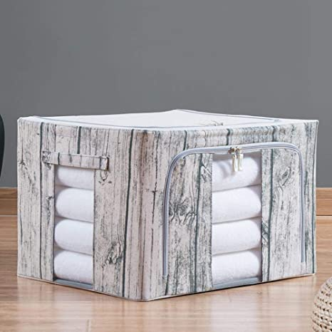 Axiba Cajas de almacenaje Ropa de algodón Caja almacenaje casero Ropa Almacenamiento Caja
