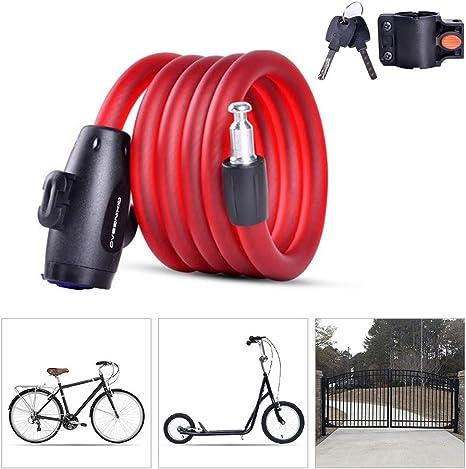 KuaiKeSport Candado Bici Candado Bicicleta Alta Seguridad con ...