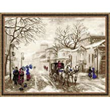 "Old Street Counted Cross Stitch Kit-15.75""X11.75"" 14 Count"
