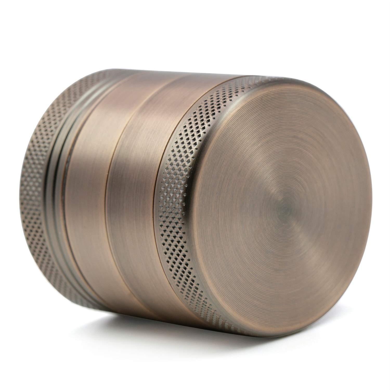Yzyamz Herb Grinder Aluminum Bronze Plate Grinder Portable Manual Grinder Bench Grinder, 1.6'' (40Mm) by Yzyamz