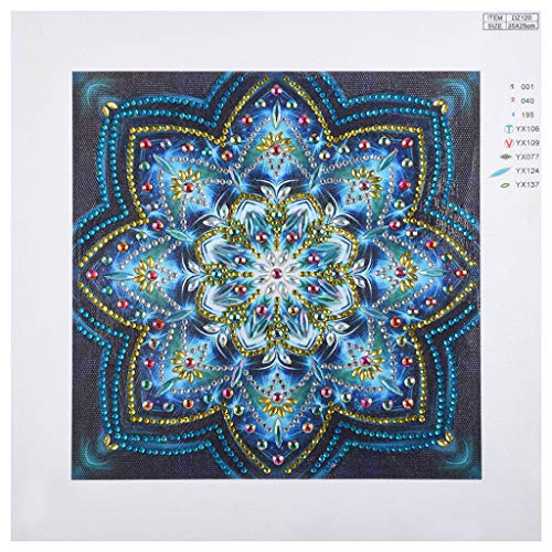 5D DIY Diamond Painting, Seaintheson Decorating Cabinet Table Stickers Crystal Rhinestone Flower Diamond Embroidery Paintings Partial Drill Square Stitch Kits, -