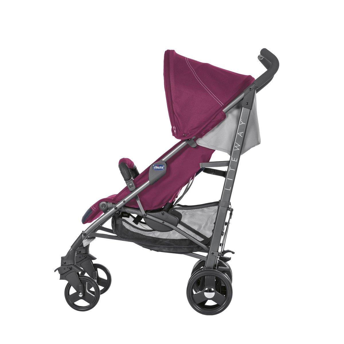 Chicco Liteway 3 - Silla de paseo ligera y compacta, 7,5 kg, color granate