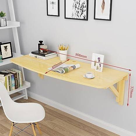 Mesa para niños Mesa de ordenador de madera Mesa de hojas abatibles Escritorio plegable Mesa de comedor Mesa de pared Mesa de trabajo portátil Mesa de ...