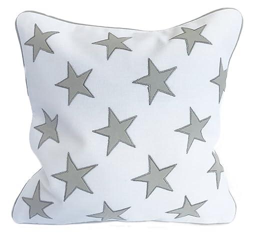Estrella Gris Cojín - 30 x 30 cm cuadrado cojín de color ...