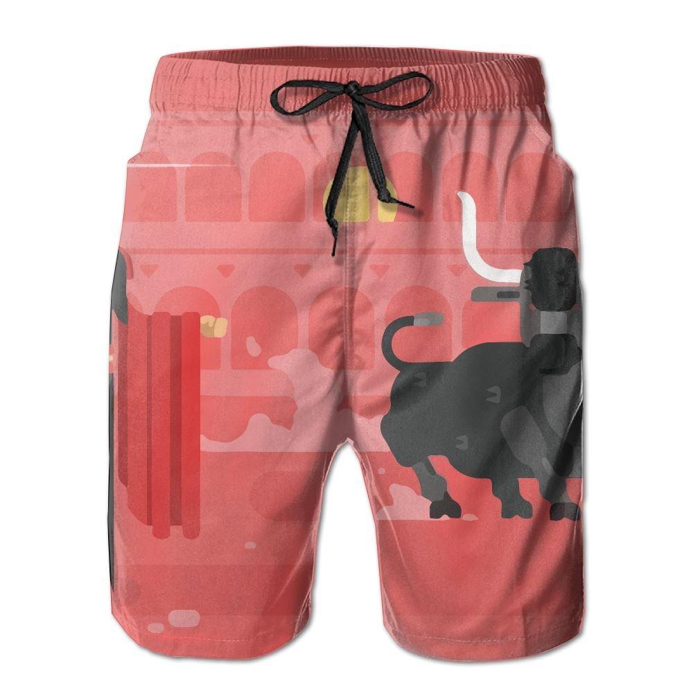 NGFF Spanish Bullfighter Summer Casual Style Adjustable Beach Home Sport Shorts