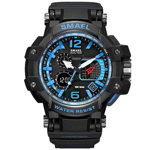 Reloj Deportivo Hombre Digital LED Relojes electrónicos Relojes de Cuarzo y Caucho Moda Wrist Watches Clásica Hombres, Mujeres, niños, niñas, ...