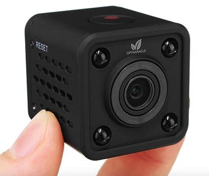 Mini Cámara Espia Oculta WiFi Camara 1080P HD Videocámara Vigilancia Portátil Secreta Compacta con Detector Movimiento