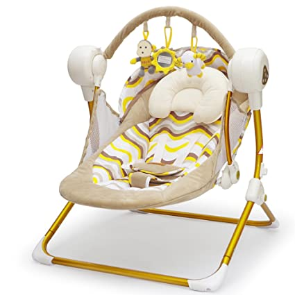 best website e7cfd 53324 Amazon.com: LZTET Newborn Baby Electric Rocking Chair Cradle ...