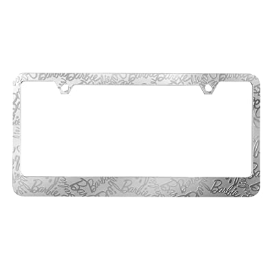 "Pilot Automotive WL-BAR2 Chrome 0.2"" x 12.1"" x 6.2"" Barbie 60th Anniversary Car License Plate Frame Silver ABS Plastic: Automotive"