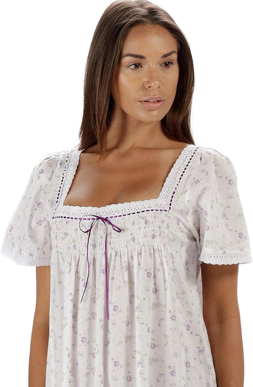 Evelyn The 1 for U 100/% Cotone Camicia da Notte Maniche Corte