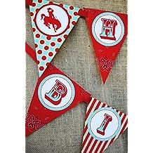 Cowboy Happy Birthday Banner Pennant