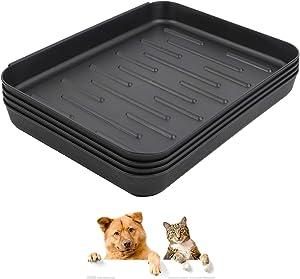 Falflor Pet Food Bowl Tray Multi-Purpose Pet Feeding Mat Non Slip Boot Mat and Tray Floor Protection Indoor Outdoor Multi-Purpose Boot Trays