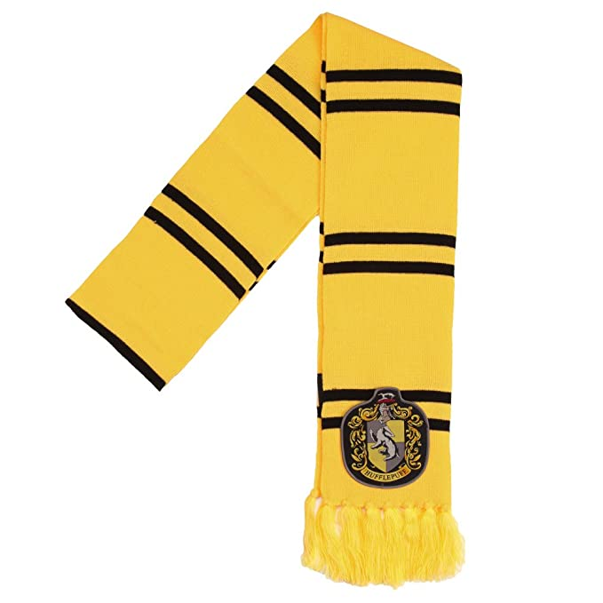 Amazon Harry Potter Hufflepuff Patch Knit Scarf Clothing Magnificent Hufflepuff Scarf Pattern