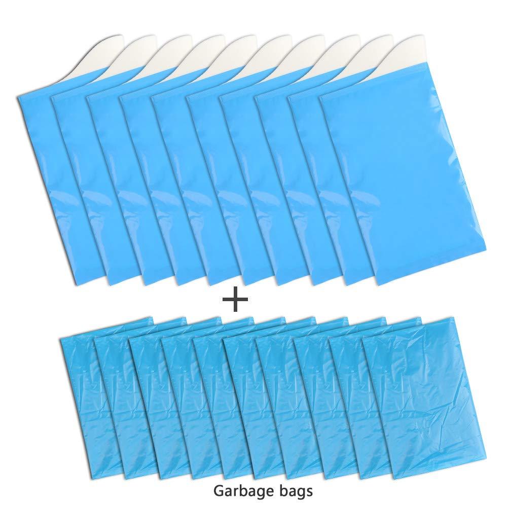 ATPWONZ 10pcs Desechables Bolsas de Orina Superabsorbentes + 10pcs Bolsas de Basura del Diseño Universal para Camping, Emergencia, Traffic ...