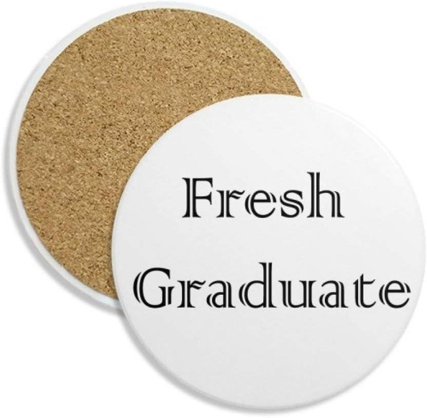 DIYthinker recién Graduado de la Universidad Coaster la Taza de cerámica Titular de Piedra Absorbente para Regalo Bebidas 2pcs