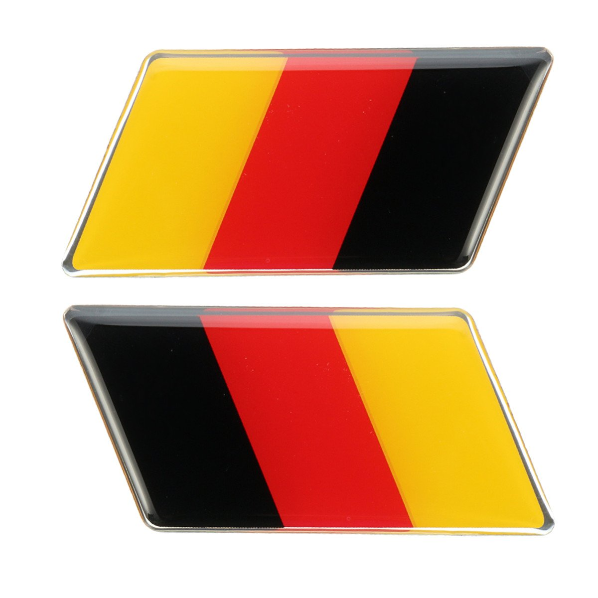 MONNY Pair Aluminum Germany Flag Rear Emblem Badge Sticker For Jetta/MK7/MK6/Golf/CC/GTI Waterproof
