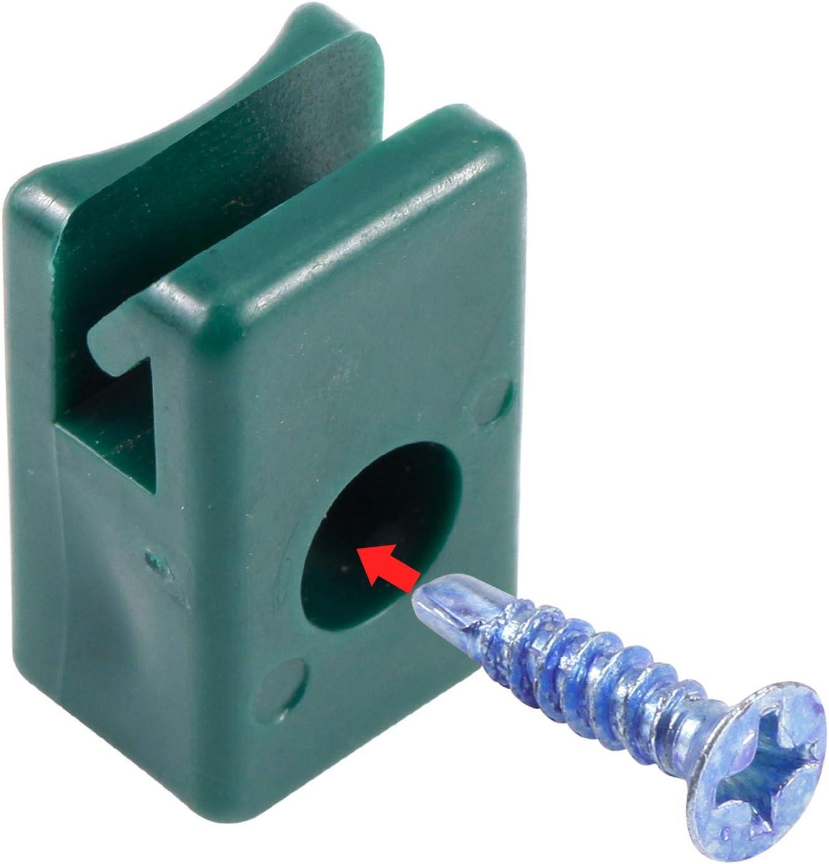 10 Pcs Attaches Clips Porte Serre C/âbles Vert Serrage pour Cl/ôture Rambarde
