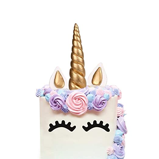 Unicorn Horn Cake Toppers