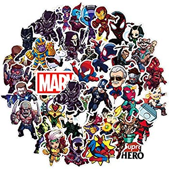 Laptop Stickers for Superheros[100pcs], Cool Vinyl Cartoon Comics Sticker for Hydro Flasks Water Bottles Laptop Luggage Helmet Skateboard Macbook iPad iPhone - Graffiti Decals for Kids Boys Teen