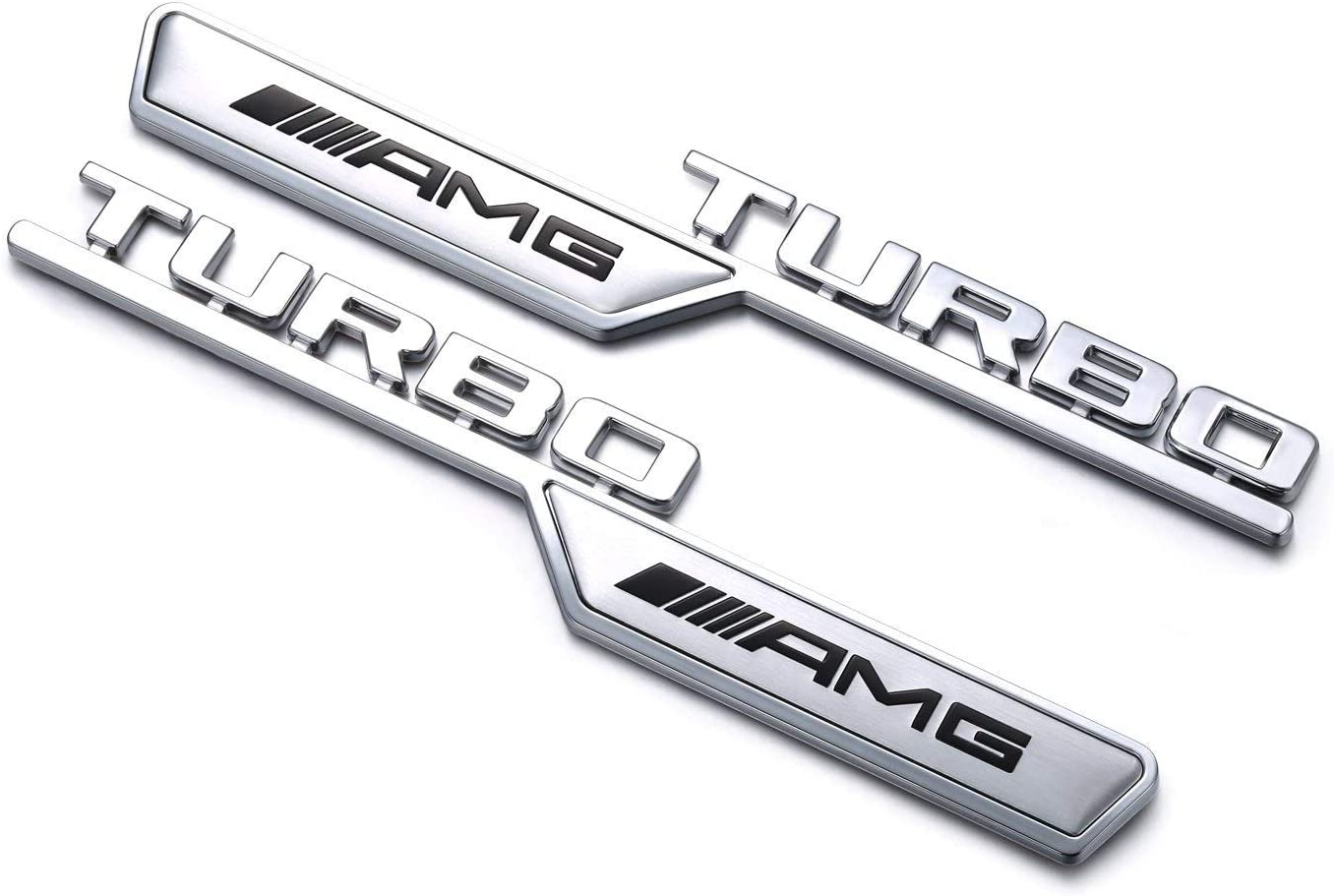 YIKA AMG TURBO 2 unidades Placa de hoja para decoraci/ón 3D del logotipo de coche para Mercedes Benz