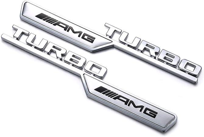 Yika Amg Turbo Leaf Plate Refitting 3d Car Logo Dekoration Für Mercedes Benz 2 Stück Auto