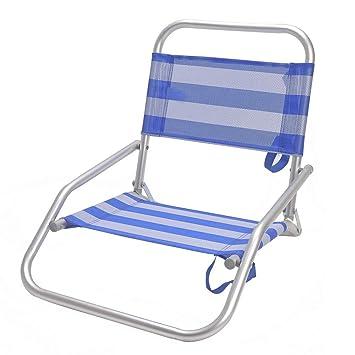Monty LOLAhome Silla de Playa Plegable de Aluminio Azul ...