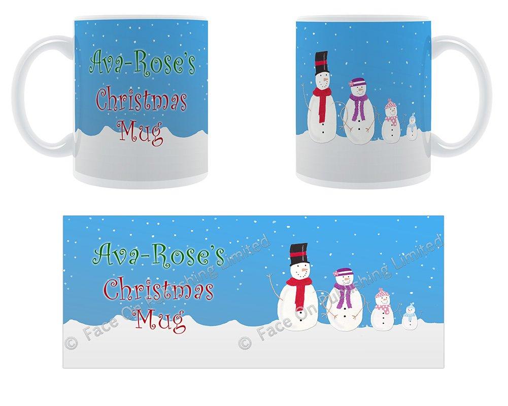 AVA-rosa de Navidad taza - diseño de la familia de cerámica ...